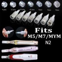 MYM N2 M5 M7 İğne Kartuş 1/3 / 5/7/9/12/36/42 / nano 3D / 5D / Yuvarlak iğneler İğneler Kartuşları drpen