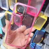Para iPhone 11Pro máximo Xr / xs caso max x / 8plus clara y transparente de moda y sencilla contra la caída de TPU teléfono móvil de protección
