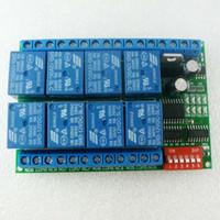 Envío gratuito 8 canales DC 12 V RS485 Módulo de relé Modbus RTU 485 Interruptor de control remoto para PLC PTZ Cámara Monitoreo de seguridad