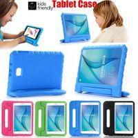 Crianças de espuma eva punho à prova de choque alça case capa para ipad 234 air 2 pro 9.7 10.5 polegadas criança amigável tablet coque