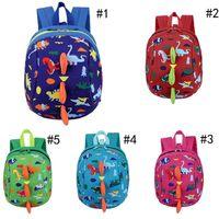 NOUVEAU 5 Style Kids Safety Harness Harness Sac à dos Enfant Enfant Toddler Sac à dos Dinosaure anti-dinosaure Dessin animé Sac Arlo Kindergarten Sacs à dos