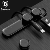 Baseus Magnetic Cable Clip per telefono cellulare USB Data Cable Organizer Magnetic Holder Desktop Cable Winder
