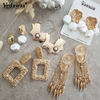 Vedawas Pearls Statement Drop Dangle Earrings for Women Pend...