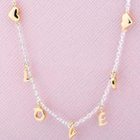 Neue 925 Sterling Silber Halskette Glanz Geliebte Skript Collier Halskette Für Frauen Hochzeit Geschenk Europa DIY Schmuck