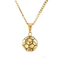 Newest Tide brand Unisex necklace Solid football Pendant jew...