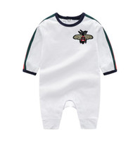 Ins baby одежда детские розыгрыши весна осень новый ползунок хлопок новорожденных девочек мальчик дети дизайнер мультфильм пчелы младенческие комбинезоны одежда