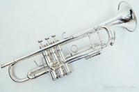 Yeni Trompet Pro Kral TP 2065 SP Trompet B Flat Top Müzik Aletleri + Mavi Kılıf