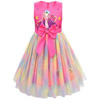 Jojo Siwa Girls Princess Dress Dress Bolla Gonne Gonne Tutu Abiti Bambini Baby Girl Girl Gonna Gonna Festival Principessa Studenti Dress Ball Gown D21702