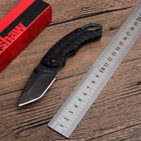 2019 Kershaw Shuffle II 8750 8750TBLKBW 블랙 TANTO 전술 접이식 칼 8CR13MOV 58HRC 야외 캠핑 사냥 Survival 유틸리티 EDC 도구