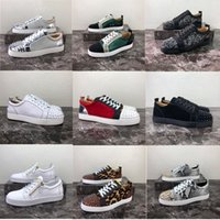 2020 New Luxury inferiore rossa Rivet Scarpe Uomo Donne casual Calzature Studded Spikes Fashion Insider pelle basse Boots Designer Sneaker Big Size34-48