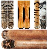 Adulto Calcetines unisex 3D Impreso Pata animal Crew Sock niños grandes calentadores de la pierna calcetines de algodón Deportes Skateboard Medias Hip hop