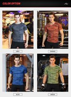 Quick- drying sports t- shirt men' s tight- fitting fitness...