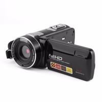 Freeshipping Portable Night Vision FHD 1920 x 1080 Pantalla táctil LCD de 3.0 pulgadas 18x 24MP Cámara de video digital Videocámara