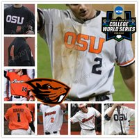 OSU Oregon State Beavers # 23 Kevin Abel 8 Michael Conforto 23 Jacoby Ellsbury 11 Trevor Larnach 2018 CWS Patch Maglie da baseball NCAA