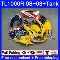 + Tank för SUZUKI SRAD TL 1000 R TL1000R 98 99 00 01 02 03 304HM.30 TL1000 R TL 1000R Hot Yellow Frame 1998 1999 2000 2001 2002 2003 Fairings
