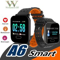 A6 Fitness Watch IP67 Waterproof 1. 3inch Touch Screen Square...