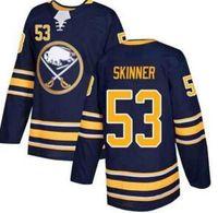 الرجال الجاموس Sabers # 53 Jeff Skinner Navy Blue Home Stitched Hockey Jersey، الرجال 9 Eichel 26 Dahlin 90 O'Reilly الرجال الفانيلة الذكرى الخمسون