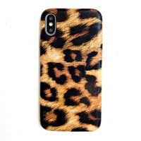 Neue Art und Weise für iphone 11 pro x xr xs max 8 7 6 und Handy Ledertasche Instagram-Artleoparddruck schlankes Design weichen rückseitige Abdeckung
