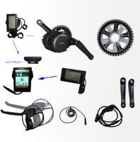 팔방 48v750w / 8fun bbs02 750w 중순 크랭크 구동 모터 키트 다채로운 디스플레이 기어드 모터 키트 48V ELETRIC ebike 자전거 ebike 키트