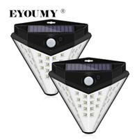 Eyoumy 다이아몬드 모양의 삼각형 태양 광 조명 옥외 무선 32 LED 4면 넓은 조명 영역 전면 도어 DHL에 대 한 방수 보안