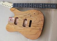 TL DIY أنصاف الغيتار الكهربائي مع الفريتس خشب الورد، وهيئة الزيزفون أميركي مع veneeer شجرة العقدة يمكن أن تكون مخصصة حسب الطلب