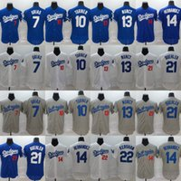 Men Los Angeles 7 Julio Urias Jersey 10 Justin Turner 13 Max...