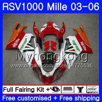 Aprilia RSV 1000R 1000 RV60 Için kırmızı beyaz sıcak Vücut Mille 2003 2004 2005 2006 316HM.25 RSV1000RR RSV1000R RSV1000 R RR 03 04 05 06
