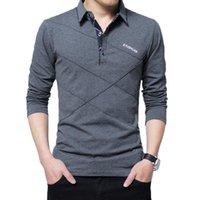 T Gömlek erkekler Uzun Kollu Tişört Erkek Casual Pamuk Çizgili Tişört Slim Fit Şık Lüks Spor T Shirt Erkek Yeni Tee 5XL Tops