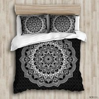 3D designer bedding sets black king size luxury Quilt cover ...