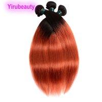 الماليزية عذراء الشعر لحمة 1B / 350 مستقيم 3 قطع / الكثير 100٪ شعر إنساني إمتداد اثنين نغمات اللون ثلاث حزم 10-28inch