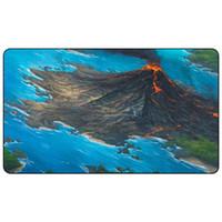Jogo de Tabuleiro mágico Playmat: terras Duplas ilha vulcânica 60 * 35 cm tamanho Esteira de Tabela Mousepad Jogar Matwitch fantasia oculto escuro assistente feminino