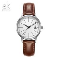 Shengke Çift İzle Erkekler Kadınlar Saatler Basit Kuvars Reloj Yüksek Kalite Relogio Masculino İş Saat Unisex Lover İzle Saat