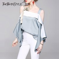 Twotwinstyle Sexy Off Shoulders Women Tops And Blouses Lose ...