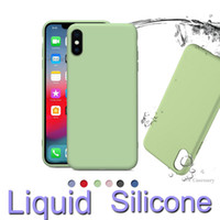 360 Full Cover Liquid Silicone TPU Cases For iPhone XR XS MA...