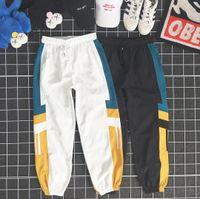 Мужские брюки Новые брюки с Щитовым узором Сыпучей кулиски Спортивных штанами Casual девять очков Sweatpants для парня девушки