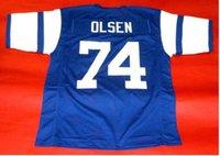 las mujeres de Hombres jóvenes Vintage # 74 Merlin Olsen CUSTOM tamaño Cuatro Temibles jersey del fútbol de s-4XL o costumbre cualquier nombre o el número del jersey