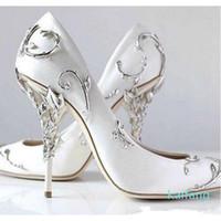 Hot Luxury / rosa de ouro / Borgonha confortável casamento Designer sapatos de noiva de seda mancha eden Heels Shoes para Evening Wedding Party Prom Shoes