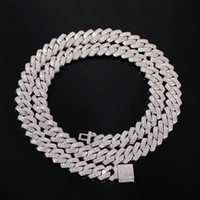 13mm Straight Edge Cuban Kette Mikro pflastern KubikZircon Mixed LuxuxBling Bling Voll Iced Out Hip Hop Schmuck