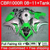 Bodys + Tank Pour HONDA CBR 1000RR CBR 1000 RR 2008 2009 2010 2011 277HM.52 CBR1000 RR 08 10 11 CBR1000RR 08 09 10 11 Carénage Vert