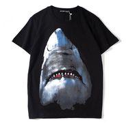 Diseñador para hombre T Shirt Diseñador de Manga Corta Casual Shark Moda Impreso de Alta Calidad de Las Mujeres Hip Hop Tees Tops