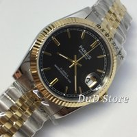 36mm Gold Plated watchcase sapphire glass Luminous black dia...