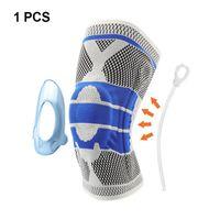 1 pièce 3D tissé haltérophilie silicone support du genou volley-ball basket-ball ménisque tibia protecteur sportif sécurité genouillère