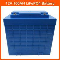 Mit Kunststoffgehäuse 12V Lithium-Batterie 12V 100AH LiFePO4 für EBike, Audiogeräte, Trolling-Motor mit Ladegerät
