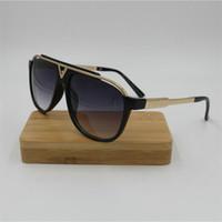 최근 판매 인기 패션 남성 디자이너는 사각형 금속 조합 프레임 최고 품질 안티 UV400 렌즈 태양 안경 선글라스