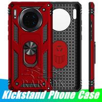 Coque de téléphone pour iPhone 12 Pro Max Samsung S21 Ultra S20 Fe LG Stylo 6 K51s Moto G9 Plus G8 Magnétique Standable Armor Couverture arrière