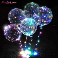 20 zoll leuchtend transparent helium bobo blase ballons weihnachten hochzeit geburtstagsfeier dekorationen led string beleuchtet balloons