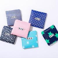New Hot Sale Moda impressão dobrável verde sacola de compras Tote Folding bolsa bolsas Conveniente sacos de armazenamento de grande capacidade