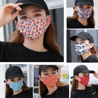 Adult Printed Mouth Mask Floral Drinks Camouflage Dustproof ...