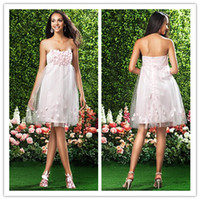 Sweetheart Satin Pink Country Abiti da damigella d'onore Convenzionale Maid of Honor Beach Custom Made Plus Size Abiti Short Party Sera Disponibile