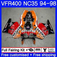 키트 혼다 용 RVF400R VFR400 NC35 V4 VFR400R 94 95 96 97 98 270HM.5 RVF VFR 400 R VFR 400R Repsol 핫 레드 1994 1995 1996 1997 1998 페어링